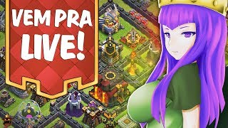 FARMANDO NA CV9 MAIS NOOB DO CLASH AO VIVO 🔥 VISITANDO SUBS 🔥 CLASH OF CLANS