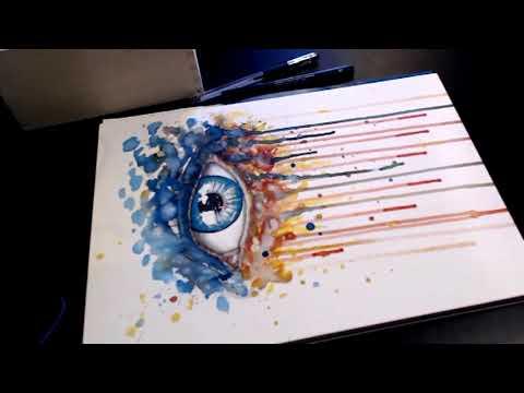How to draw a Splash Eye