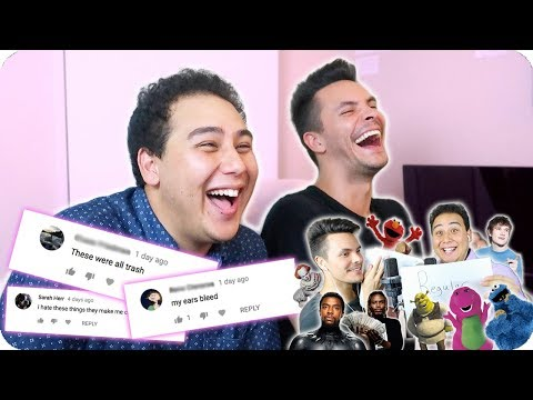 Reacting to Hate Comments from the Impersonation Covers