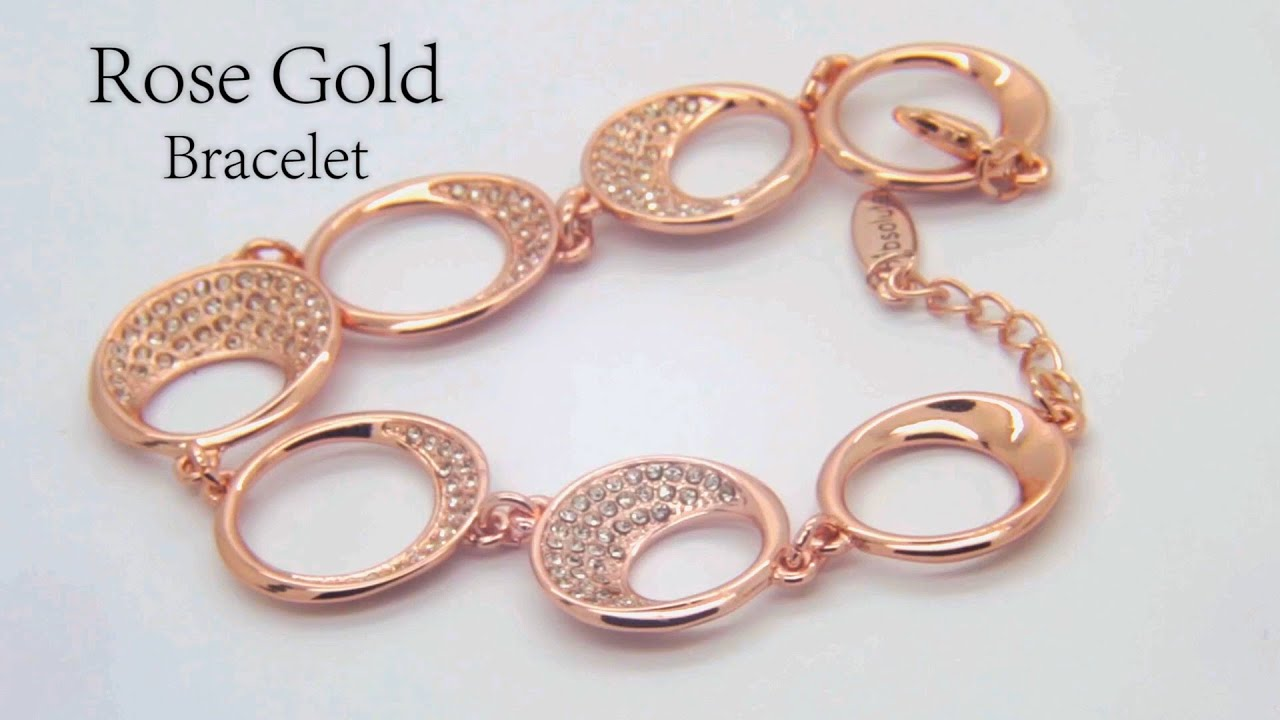 Costume Jewellery Rose Gold Bracelet by Absolute Jewellery YouTube