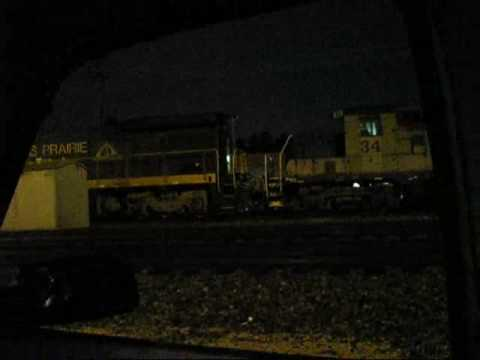MUST SEE!!! Hudson Bay Railway SD50 5009 leads the F ILRAIL!!! WOW!!! VERY RARE!!!
