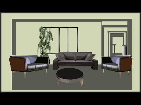 How To Draw 3D Settings Of A Living Room In Flash Part 83