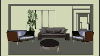How to Draw 3D Settings of a Living Room in Flash