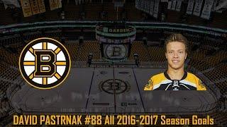 David Pastrnak - NHL Season 2016/2017 (All Goals)