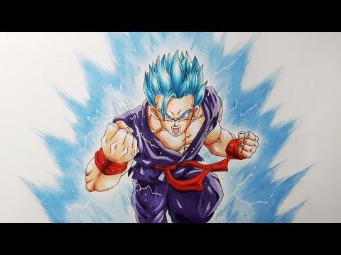 Drawing Gohan Super Saiyan Blue Youtube