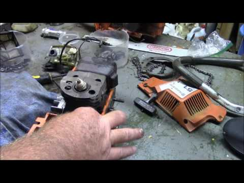 Husqvarna 51 Dead Saw Salvage, Amazing how far things can go before they stop!
