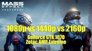 Mass Effect Andromeda Benchmark with GTX 1070 - 1080p vs 1440p vs 4K UHD