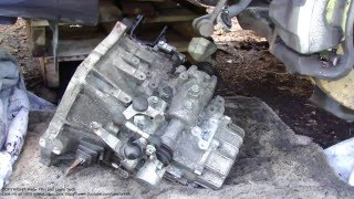 How to replace clutch Toyota Corolla years 2007 to 2015. Part 37/45. Gearbox installation back