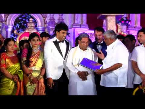 CM visits to H D Revanna's Son's wedding Reception at Bangalore Palace on 11.03.2018.
