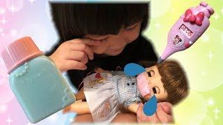 ソランちゃんお世話ごっこ お熱が出た!!体温計とマスクとおくすりで看病しよう Remin & Solan Doll Pretend Play as Care Toys