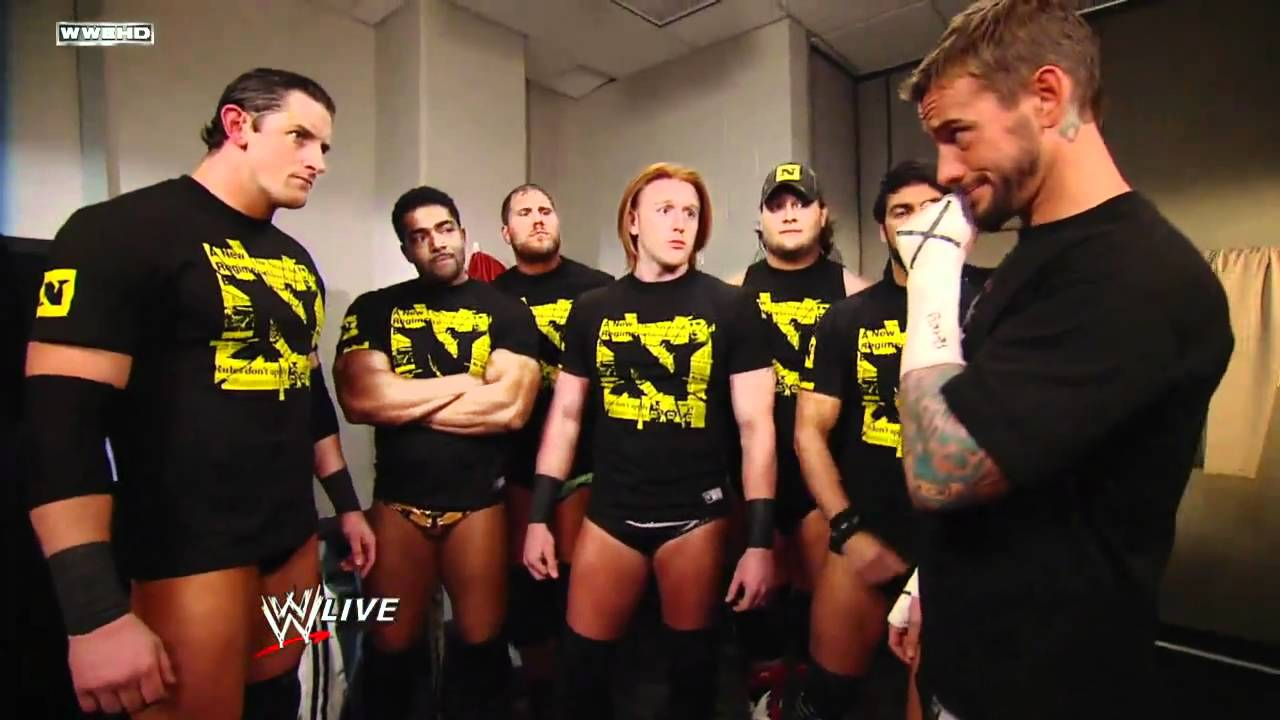 Wade Barrett Cm Punk And The Nexus Backstage Youtube