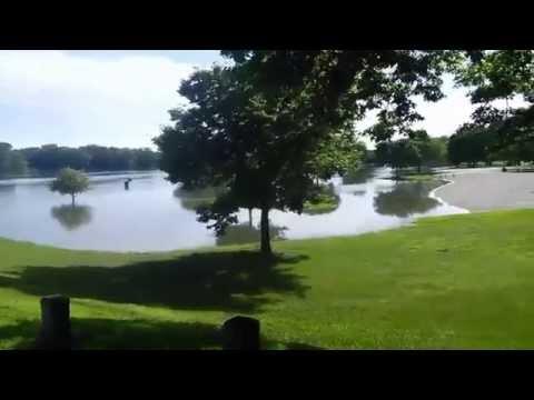 Morris, IL Flood 2015 Boat Launch