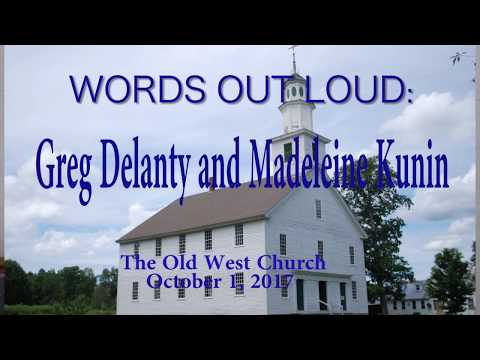 Words Out Loud:  Greg Delanty and Madeleine Kunin