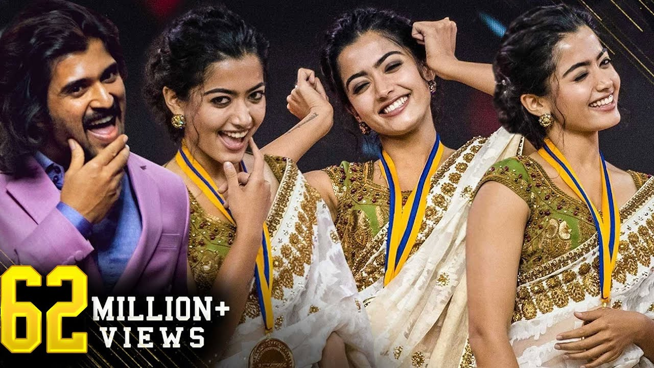 Rashmika & Vijay's Yenti Yenti Live Ramp Walk!! Wow! What an on-screen Pair! Super Cute!
