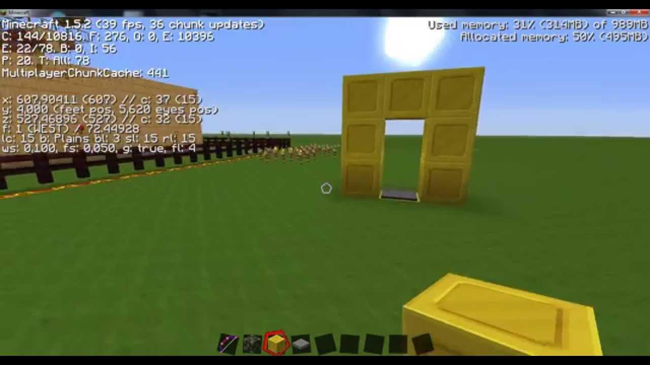 Como hacer un teletransportador en minecraft 1 5 2 sin - Decoraciones para minecraft sin mods ...
