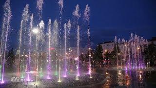 Поющий фонтан г. Пермь аэросъемка с квадрокоптера глазами AIRtime  (официальное видео)