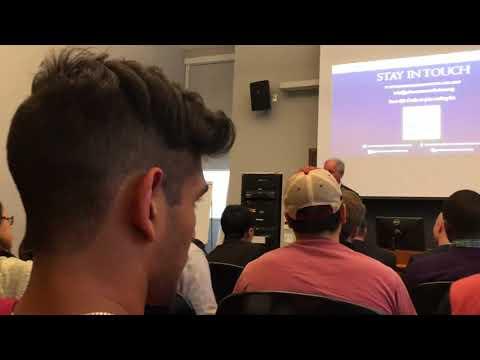 Schwarzman talked about the education mission at harvard hall at harvard yard