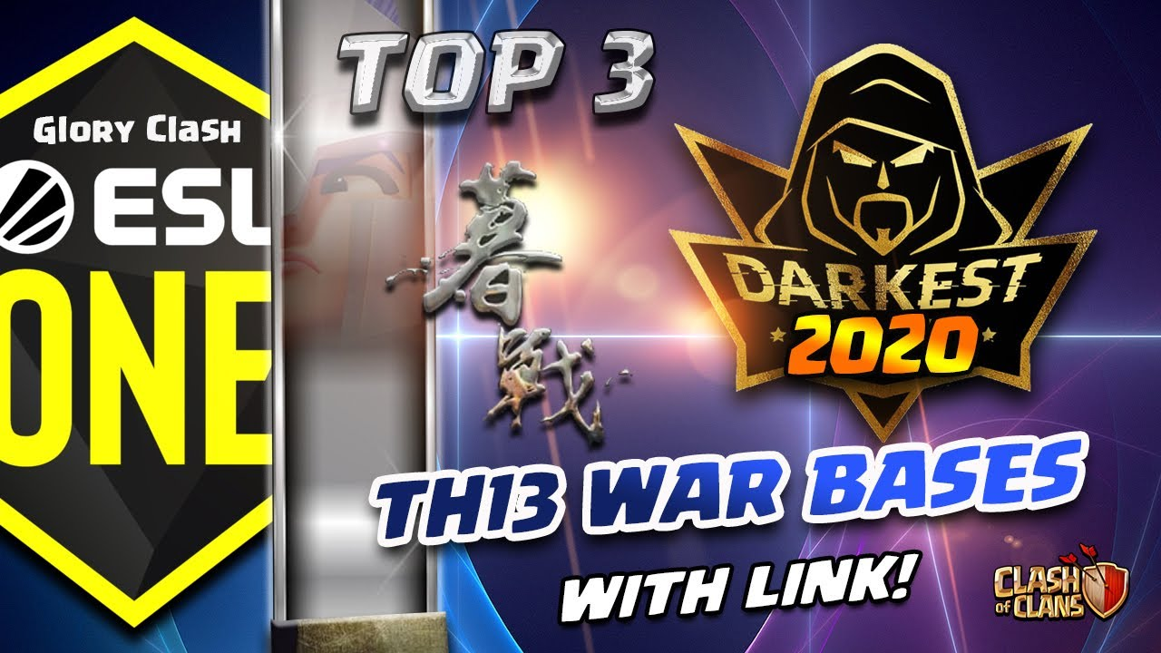 *WoW* TOP 3 Darkest MuZhan Th13 War Bases WITH LINK 2020 ESL /Anti 2-3 Star/Clash of clans   #530