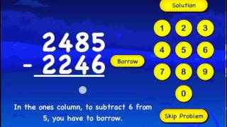 Subtraction For Kids iPhone/iPad App