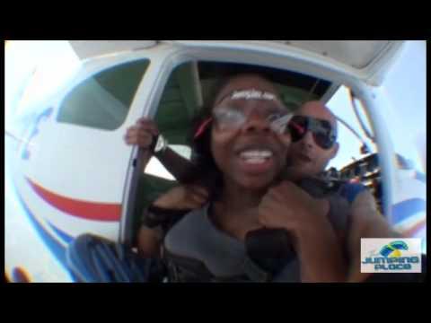 Zaneta Smith Tandem Skydiving over Jacksonville Beaches and the Atlantic Coastline