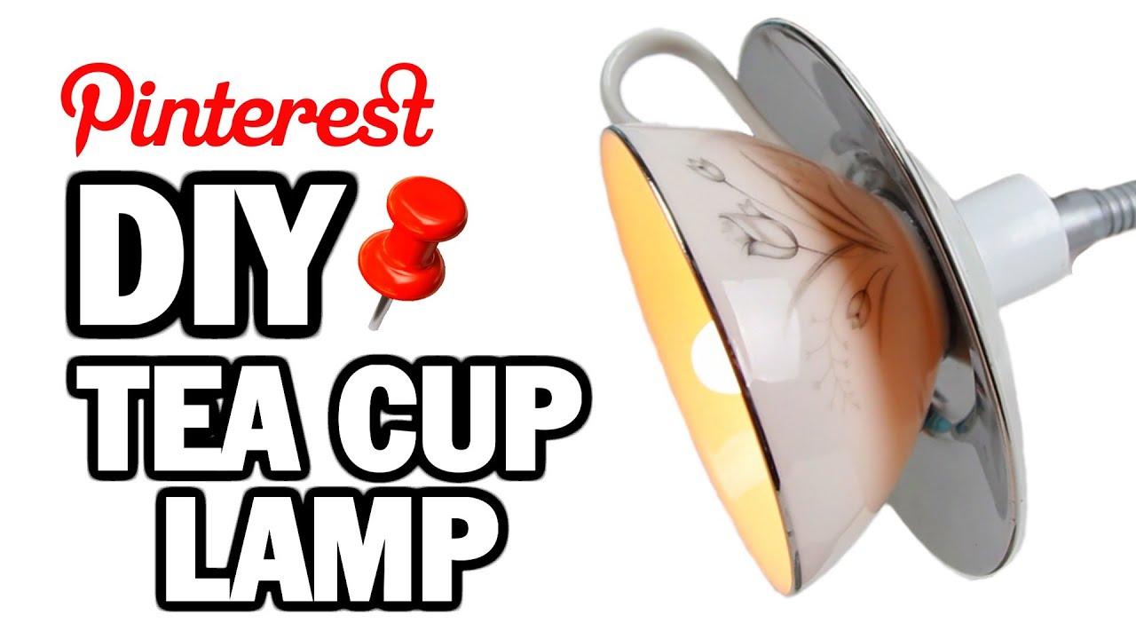 Diy tea cup lamp man vs pin 2 youtube arubaitofo Choice Image