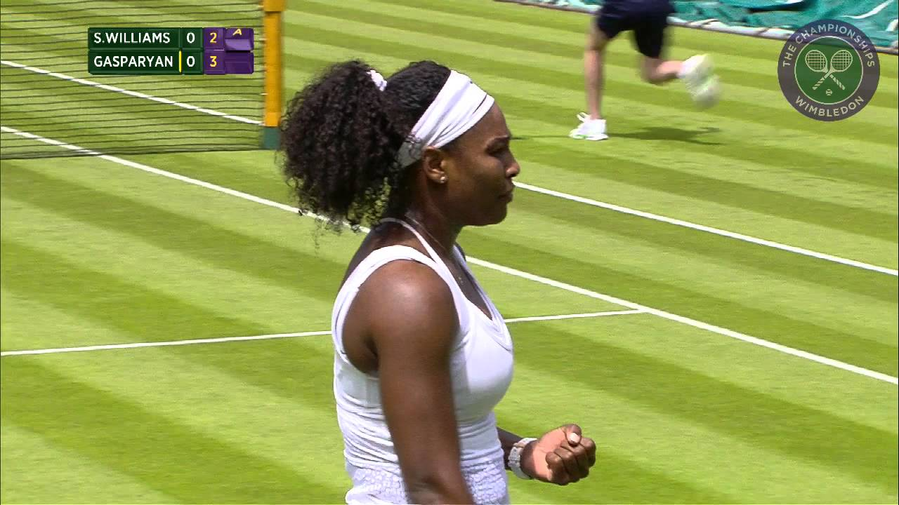 e60a181a32e Serena Williams 1R - Wimbledon 2015 Highlights - YouTube