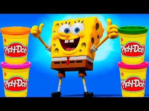 Spongebob Play doh STOP MOTION video Animacin de Bob Esponja con