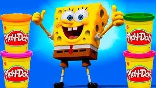 Spongebob Play doh STOP MOTION video. Animación de Bob Esponja con Plastilina