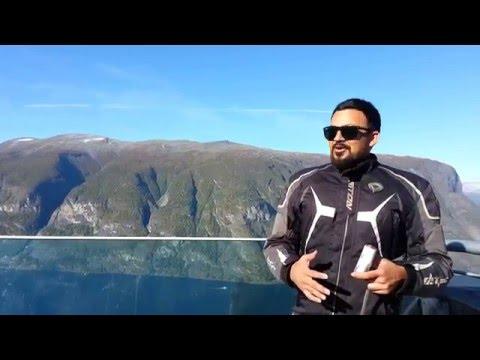 Stegastien Lookout in Aurland,Norway
