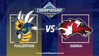 CCCAA Women's Water Polo Final: Fullerton vs Sierra - 11/17/18  - 9:45am