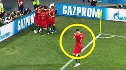 Warum bei Portugal 1 Spieler alleine jubelt.
