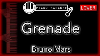 Grenade (LOWER -3) - Bruno Mars - Piano Karaoke Instrumental