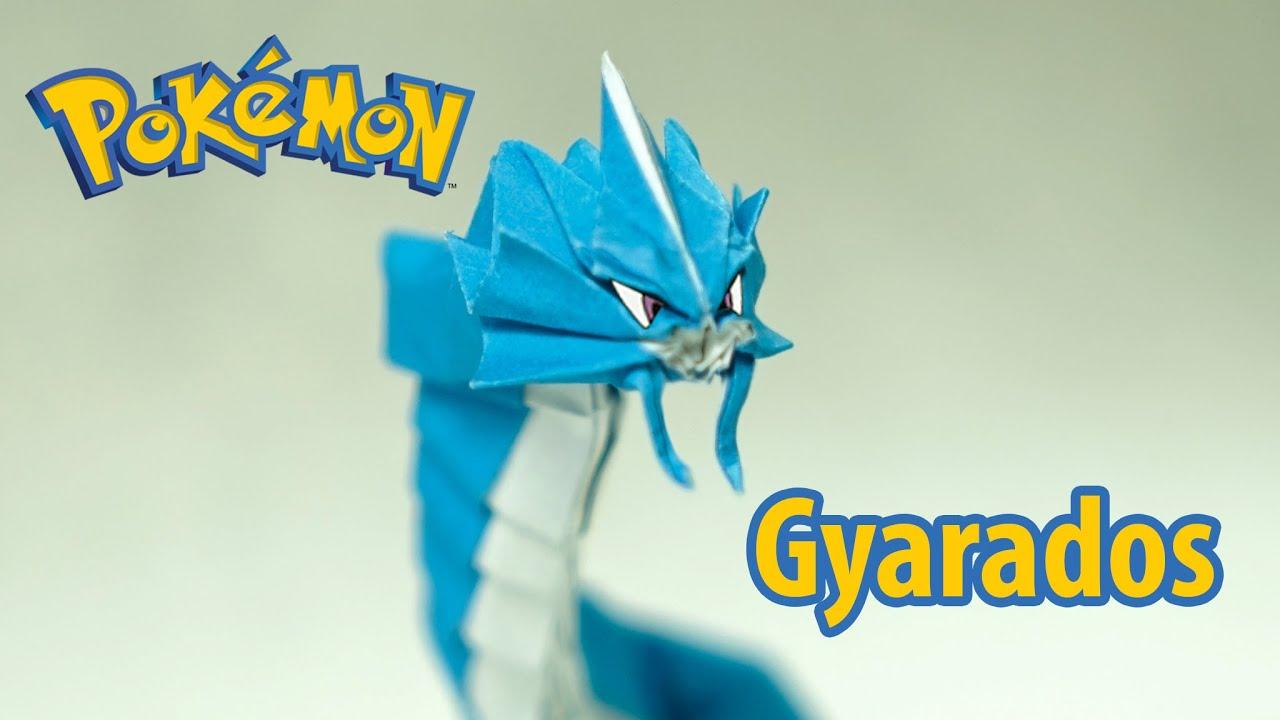paper pokemon origami gyarados tutorial henry ph��m