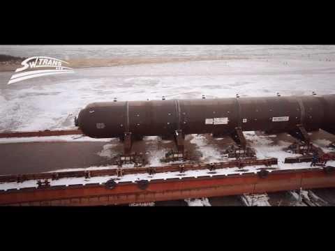 Уникальная транспортировка реактора весом 1283 тонны в Комсомольске-на-Амуре