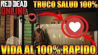 Red Dead Redemption 2 ONLINE TRUCO SUBIR SALUD AL 100% RÁPIDO VIDA MÁXIMA RÁPIDO