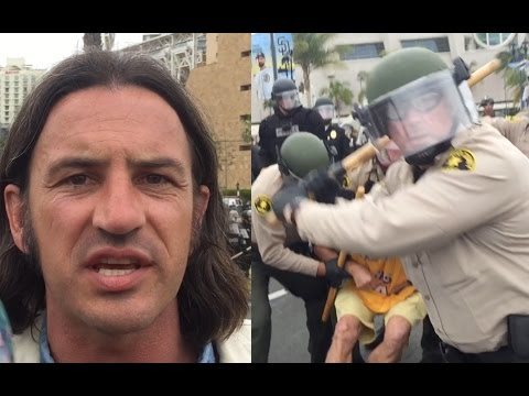 Bryan Sanders Interview Interrupted by Violence | San Diego, CA | May 27, 2016