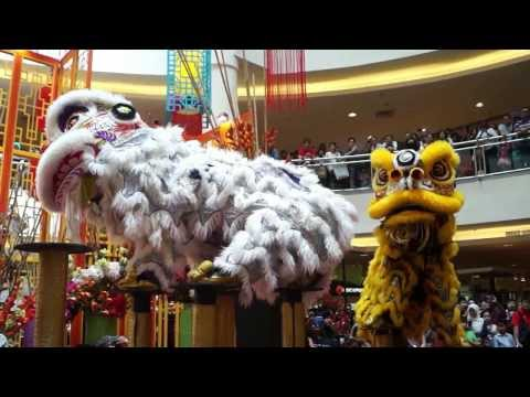 CNY 2014 ~ Acrobatic Lion Dance (舞獅 Múa lân) by Kwong Ngai @ Mid Valley MegaMall