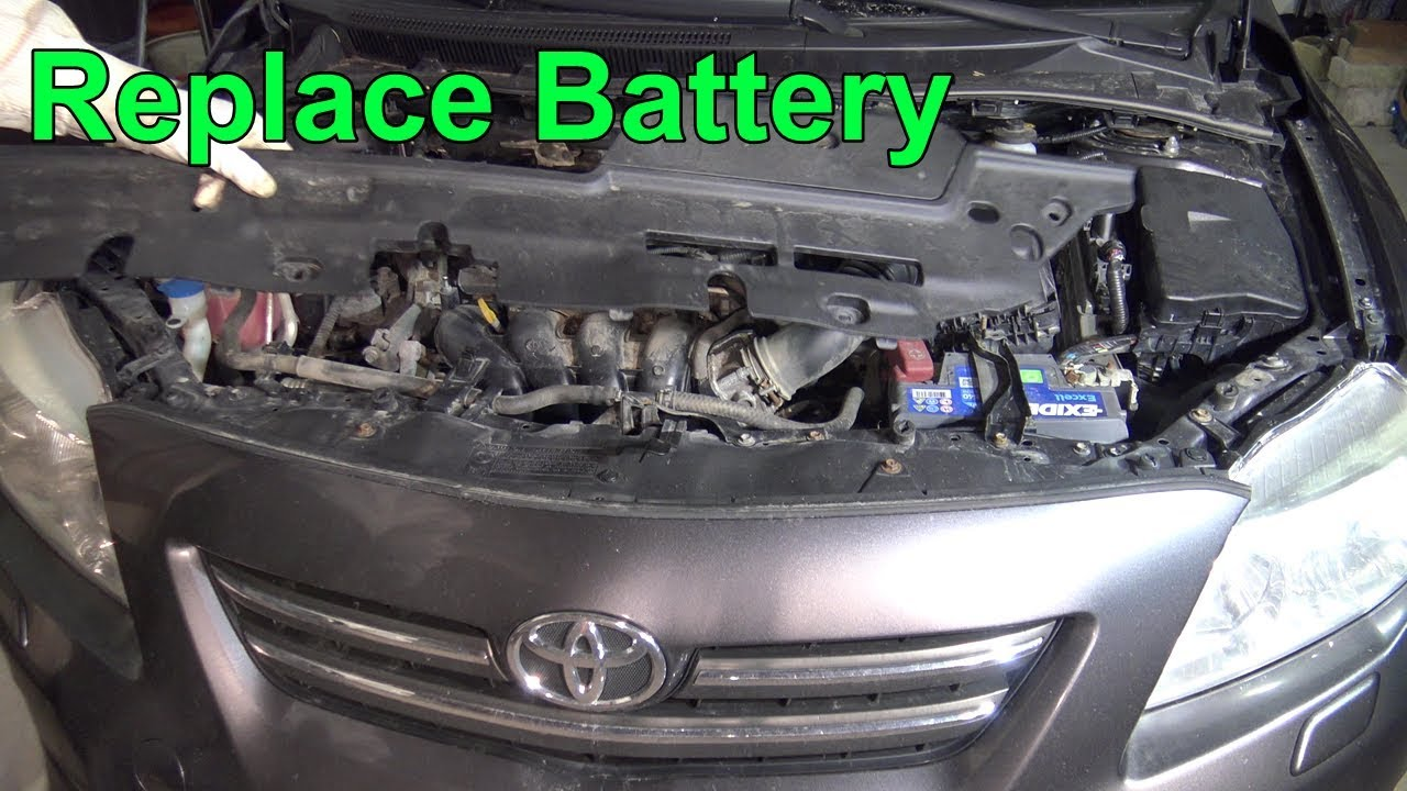 How To Replace Battery Toyota Corolla Dual Vvt I Engine Years 2007 2018