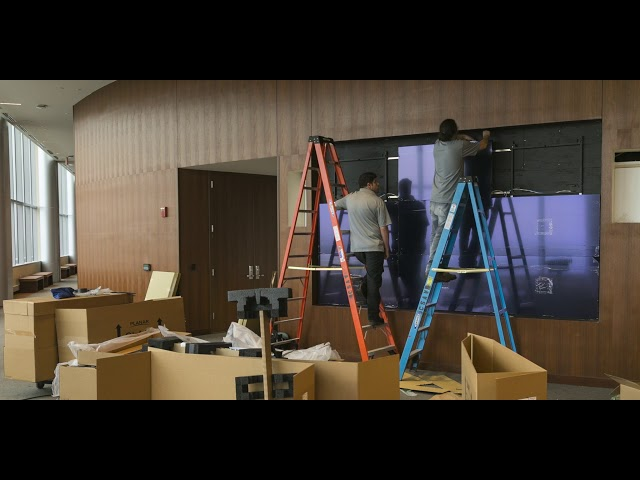 Video Wall Install - Hackensack Meridian's JSUMC Hope Tower