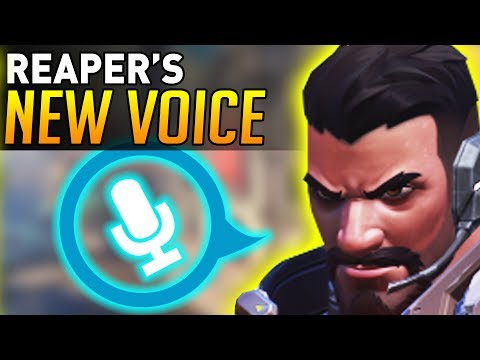 Overwatch | Reaper's NEW VOICE ACTING! (Replaced ALL Voice Lines!)