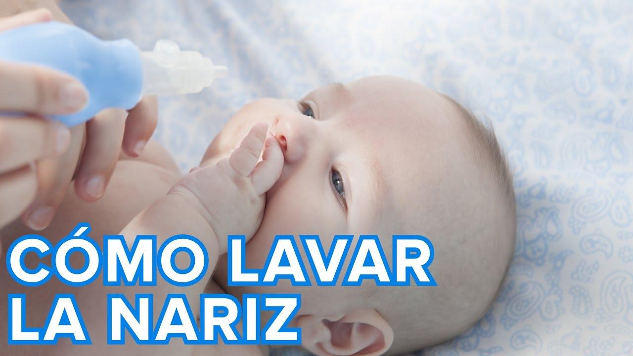 Cómo hacer un lavado nasal al bebé paso a paso - YouTube