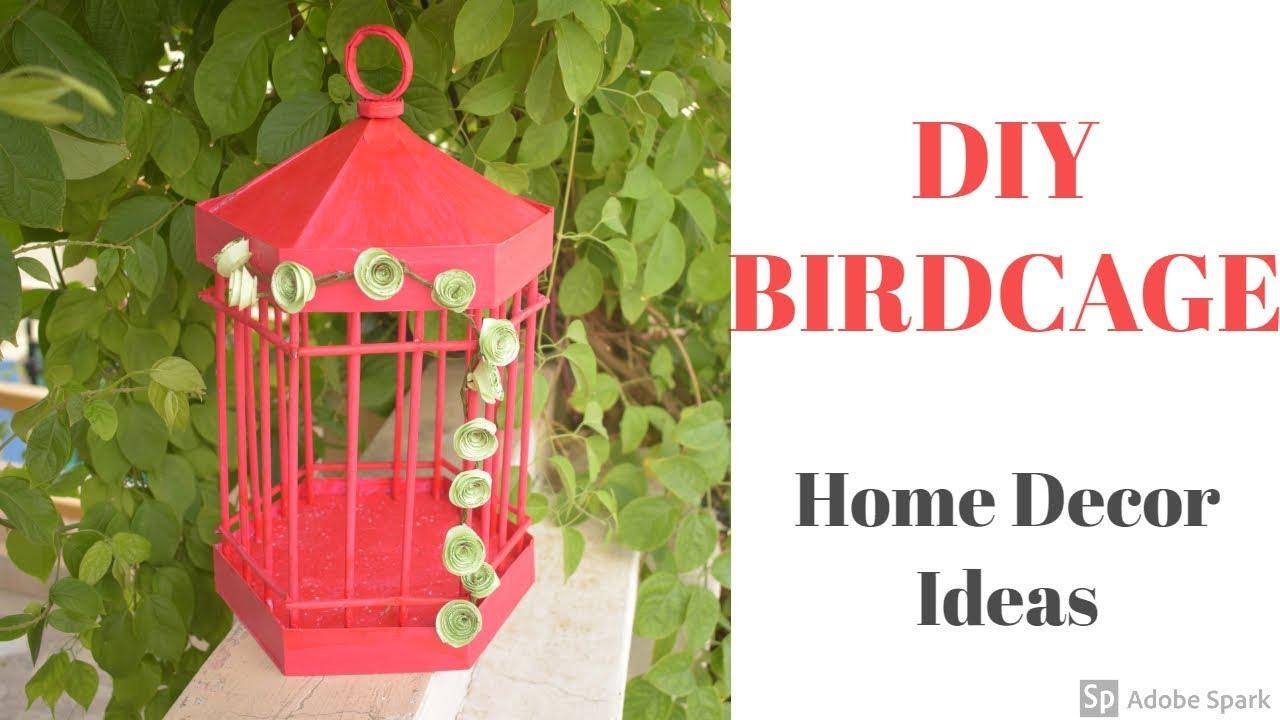 Diy Paper Birdcage Paper Craft Home Decor Ideas Youtube