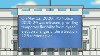 New COVID 19 Guidance for Section 125 Cafeteria Plans