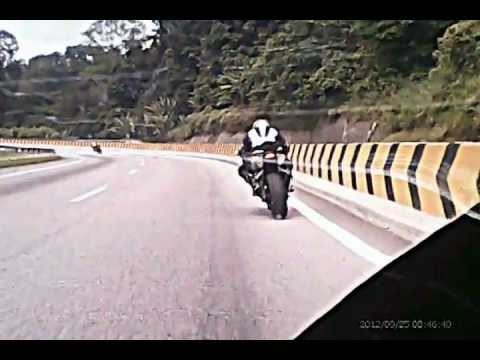 Superbike Cornering at Karak Highway Travel Video