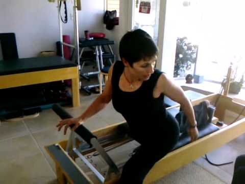 Pilates  Demo Deep Knee Lunge, Fran Philip, Menlo Park Pilates and Yoga