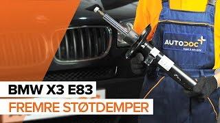 Montering Støtdempere bak BMW X3: videoopplæring