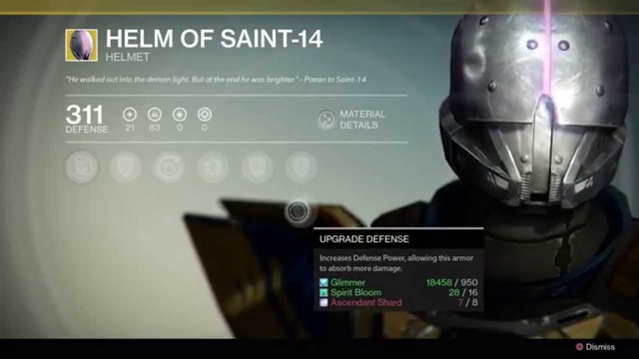 Destiny Helm Of Saint 14 Exotic Helm Youtube
