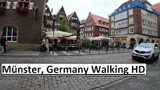 Münster, Germany POV Walking HD Old City / Altstadt