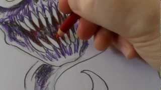 How To Draw Horror Skull Tattoo Idea