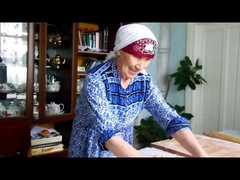 Как приготовить настоящую домашнюю лапшу. Супер-бабушка)))